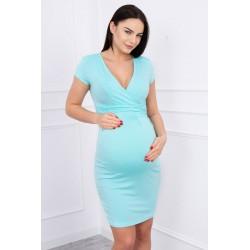 Svetlozelené tehotenské šaty