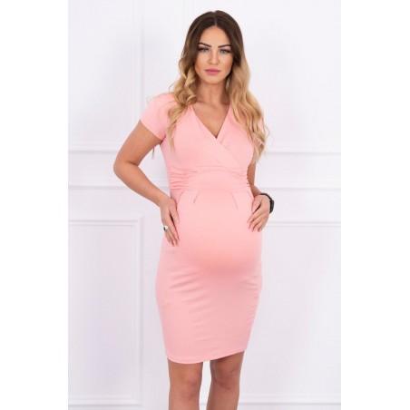 Lososové tehotenské šaty
