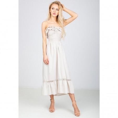 Maxi šaty s volánikom