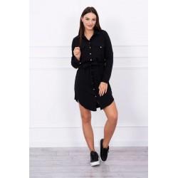 Čierne šaty s viazaním