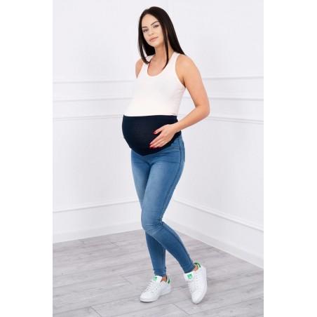 Svetlomodré tehotenské nohavice