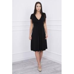 Čierne šaty s voľným strihom