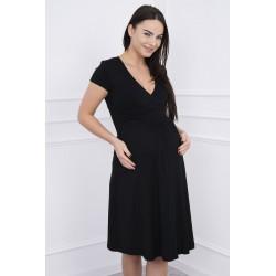 Čierne tehotenské šaty s...