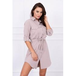 Béžové šaty s viazaním