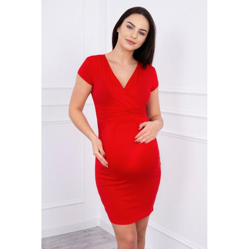 9a69d84c5 Červené tehotenské šaty. Double tap to zoom
