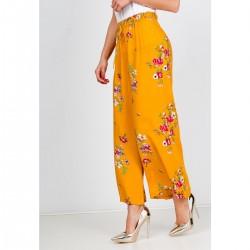 Žlté kvetované 7/8 dámske...