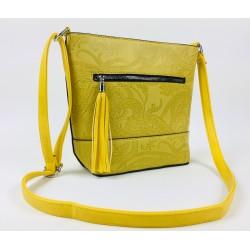 Žltá vzorovaná kabelka so...