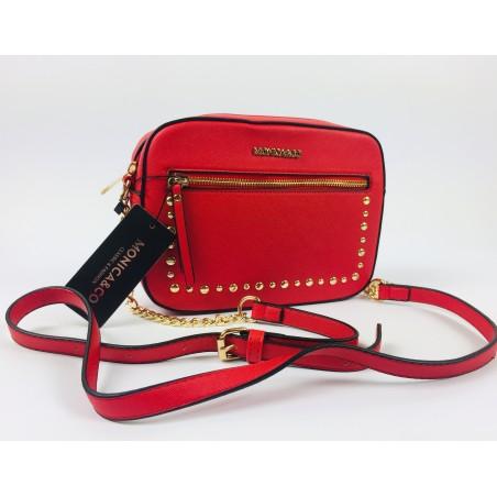Červená crossbody kabelka Monica&Co