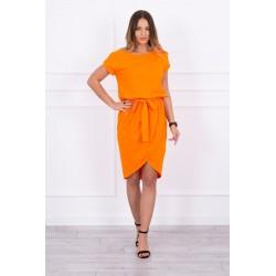 Pomarančové skladané šaty