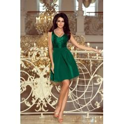 Tmavozelené krajkové šaty