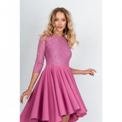 Ružové asymetrické šaty OLÍVIA