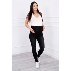 Čierne tehotenske nohavice