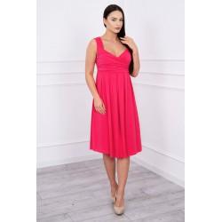 Ružové šaty so širokými...