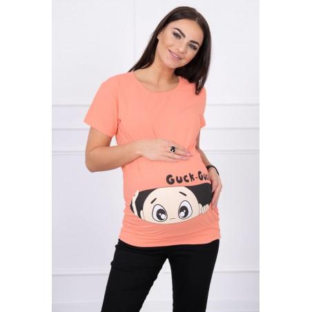 Marhuľové mamičkovské/tehotenské tričko