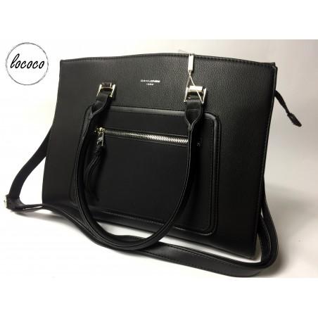 Luxusná čierna kabelka David Jones Paris