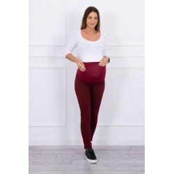 Bordové tehotenské nohavice