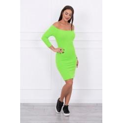 Neónovo zelené šaty