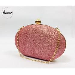 Luxusná ružová trblietavá...