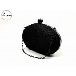 Luxusná čierna trblietavá...