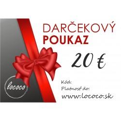 Darčekový poukaz 20€ na...
