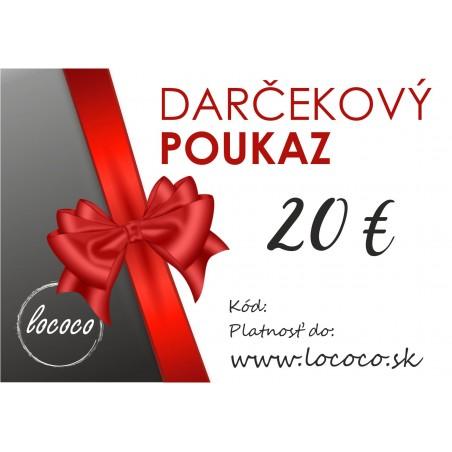 Darčekový poukaz 20€ na perleťovom papieri