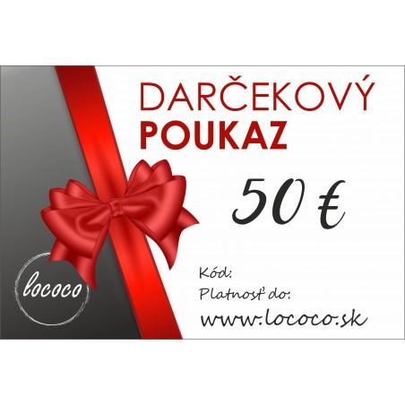 Darčekový poukaz 50€-Zaslanie e-mailom